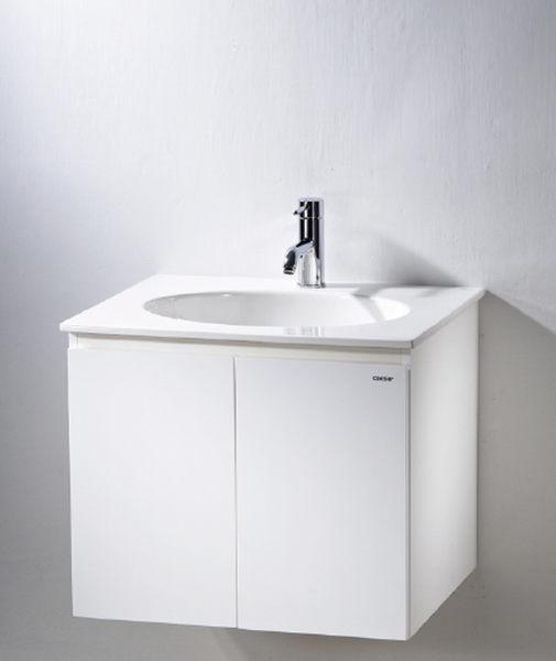《修易生活館》 凱撒衛浴 CAESAR 面盆浴櫃組系列 一體瓷盆 LF5024 C 雙門浴櫃 EH060 (不含龍頭)