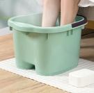 泡腳桶 塑料家用泡腳盆加高加厚洗腳盆過小腿高深桶洗腳桶足浴盆桶【快速出貨八折搶購】