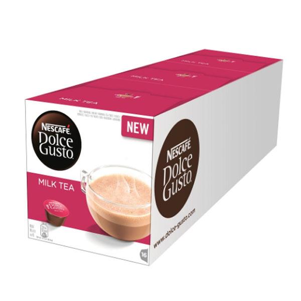 雀巢 咖啡 DOLCE GUSTO 醇香奶茶膠囊16顆入3x184g (一條三盒入) 料號 12377493