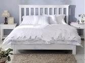 實木床 北歐簡約現代全實木床白色田園酒店床單人床1.2雙人床1.5米小戶型