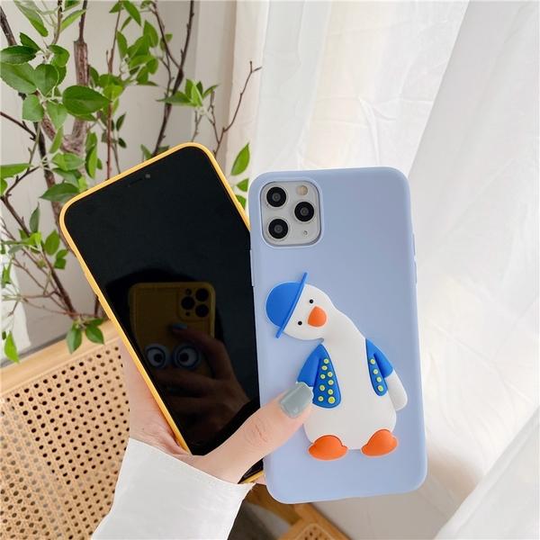 卡通立體殼 VIVO Y20 Y20s X50 pro Y50 Y19 Y17 Y12 手機殼 創意個性 歪頭鴨子 保護殼保護套 防摔軟殼
