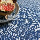 魚躍龍門 中式茶幾桌布(藍色)...