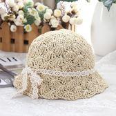 韓國手工鉤針甜美可愛女童漁夫帽親子草帽