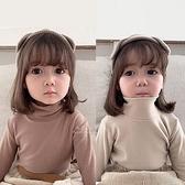 素色高領內搭長袖上衣 童裝 長袖上衣