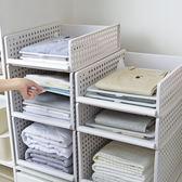 特大號衣櫃整理架衣服收納筐加厚塑料多層可疊加隔層儲物架置物架IGO  智能生活館