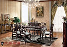 【大熊傢俱】RE801 新古典長餐台雕花面 鄉村風 歐式餐台 方桌 餐桌 雕花面  餐椅 靠背椅