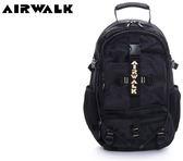 【橘子包包館】AIRWALK 都市拳擊手 蛋型多功能調節式運動筆電後背包 A615323566 黑配金黃字