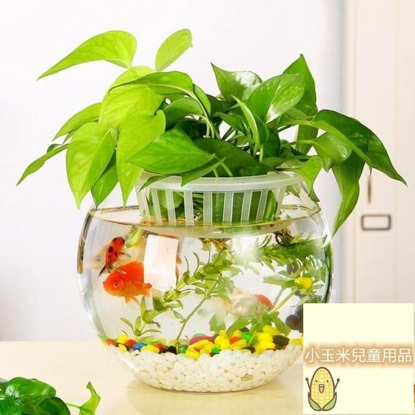型烏龜缸桌面創意龜缸迷你金魚缸玻璃魚缸水族箱烏龜缸桌面迷你【小玉米】