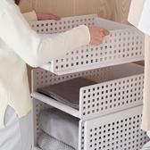 衣柜隔板分層收納架衣櫥置物層架塑料儲物架