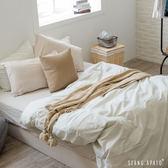 被套床包組-加大- [小格咖床包 x 細條綠被套] 新疆棉自然無印;混搭良品;男子部屋;翔仔居家
