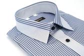 【金‧安德森】黑紫條紋變化領窄版長袖襯衫