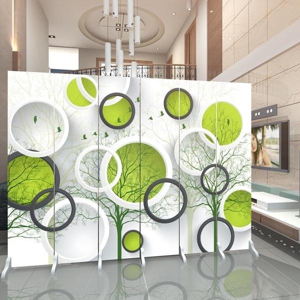 歐式屏風隔斷客廳時尚簡約現代布藝玄關臥室房間簡易折疊行動折屏 店慶降價