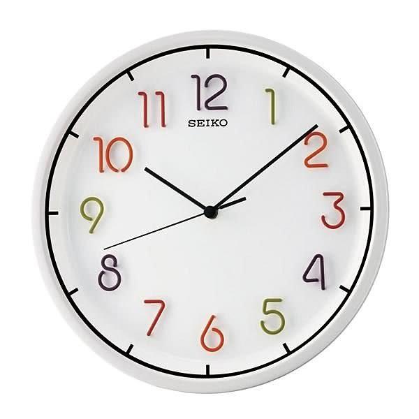 【時間光廊】SEIKO 日本 精工掛鐘 圓型 白底 立體刻度 滑動式秒針 QXA447H/QXA447