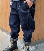 運動褲男童加絨褲子一體絨兒童冬季加厚外穿牛仔褲大童秋冬款運動棉 快速出貨