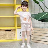 女童童裝夏季新款卡通貓咪套裝100-140碼6303 優家小鋪