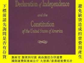 二手書博民逛書店The罕見Declaration Of Independence And The Constitution Of