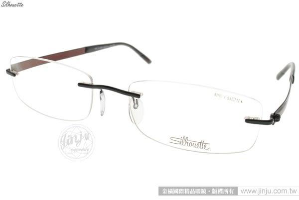 SILHOUETTE 詩樂 光學眼鏡 ST4266 C6059 (黑-紅棕) 奧地利超輕量工藝純鈦無框款 平光鏡框 # 金橘眼鏡