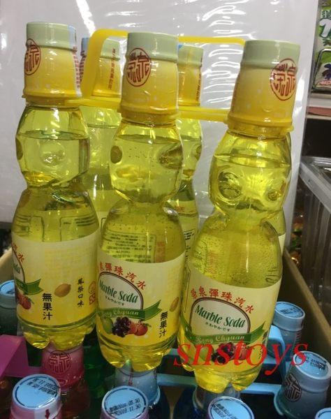 sns 古早味 懷舊零食 榮泉彈珠汽水-鳳梨口味 彈珠汽水 塑膠瓶裝 6罐