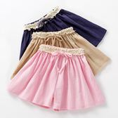 女童短褲2019新款夏裝兒童裝裙褲棉麻寶寶外穿洋氣薄款百搭褲裙潮