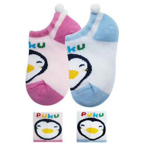 【奇買親子購物網】PUKU BABY 超短襪(藍/粉)