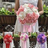 手捧花新娘結婚仿真婚禮森系韓式新娘手捧花婚紗影樓攝影拍照道具『小淇嚴選』