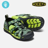 KEEN 童款 織帶涼鞋Seacamp II CNX 1018113 / 城市綠洲 (KID、輕量、戶外休閒鞋、運動涼鞋)