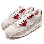 【六折特賣】Nike 復古慢跑鞋 Wmns Air Max 90 QS 米白 灰 紅 NYC 紐約 城市限定 女鞋【PUMP306】 813150-200