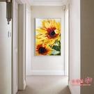 玄關畫 植物向日葵客廳裝飾畫臥室床頭掛畫...