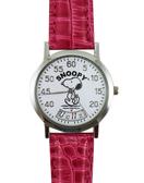 【卡漫城】 Snoopy 手錶 旋轉時針 ㊣版 皮革 紅色 史努比 女錶 兒童錶 卡通錶 史奴比