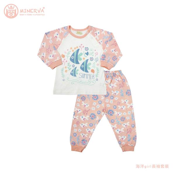 Minerva米諾娃   【海洋girl系列】長袖套裝 5~6號