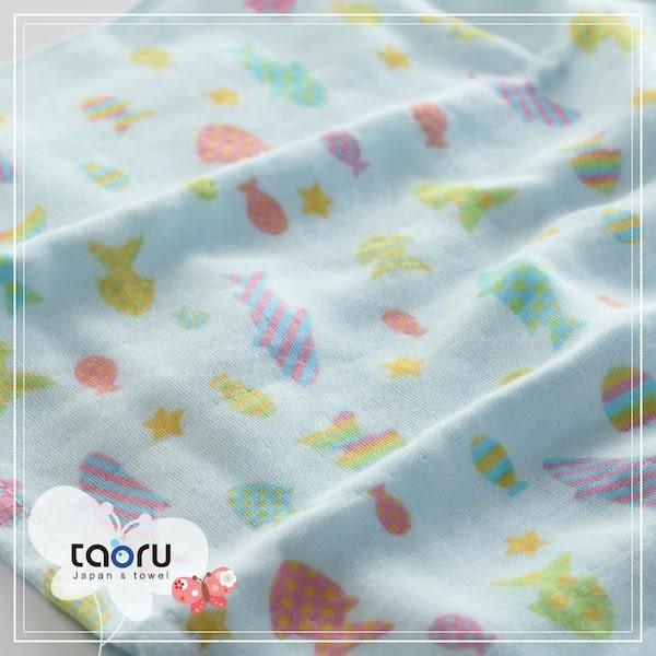 日本浴巾/輕薄款 : 和的風物詩_糖果魚 55*115 cm (浴巾 小涼被 小海灘巾 -- taoru 日本毛巾)