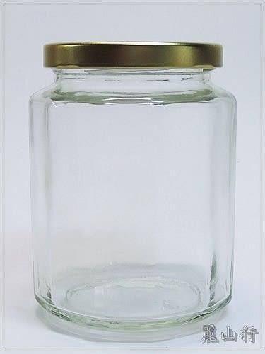 台灣製造 附金蓋 460cc十二角瓶 醬瓜瓶 果醬瓶 醬菜瓶 干貝醬 玻璃瓶 玻璃罐 儲物罐S6-460
