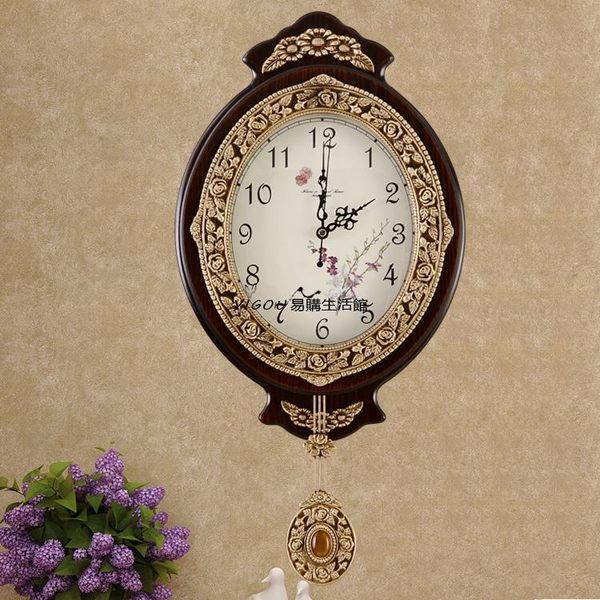 歐式單面掛鐘客廳靜音時鐘YG-90268