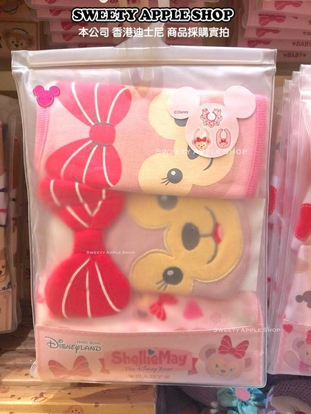 (現貨&樂園實拍) 香港迪士尼 樂園限定 雪莉玫 baby 幼童 圍兜兜 3入套組