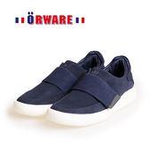 ORWARE-運動時尚素面魔鬼氈休閒鞋622118-07(藍)