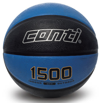 高觸感雙色橡膠籃球(7號球) 藍/黑