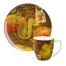 德國Waechtersbach經典彩繪系列390ml馬克杯+21cm盤組-Nature西洋梨