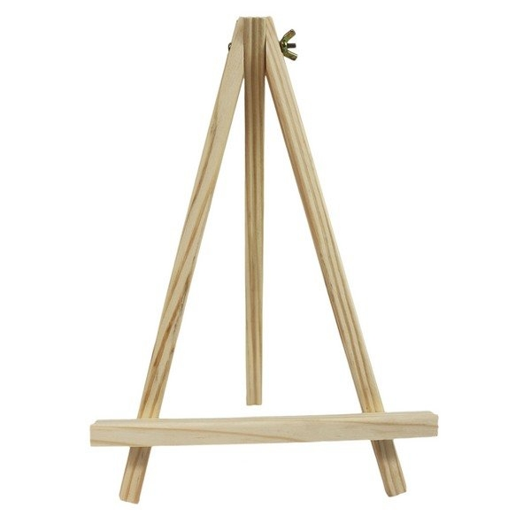 三角木架 桌上型三角架 廣告架(小)/一個入(促99) 木製畫架 畫框展示架-智2011668891396