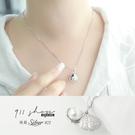 Petal.925純銀美人魚的聲音貝殼珍珠短項鍊鎖骨鏈【sa112】*911 SHOP*