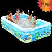 充氣游泳池 兒童充氣游泳池家庭超大型海洋球池加厚家用大號成人戲水池 夏茉生活YTL