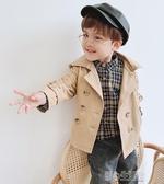 男童英倫外套韓版春秋卡其風衣兒童秋季中長款男小童寶寶洋氣秋裝