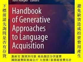 二手書博民逛書店Handbook罕見Of Generative Approach