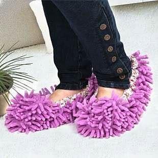 【發現。好貨】超細纖維雪尼爾 懶人清潔鞋套 可直接穿上地板鞋 簡單做清潔