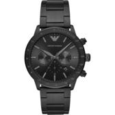 EMPORIO ARMANI 亞曼尼 個性計時手錶-黑/43mm AR11242