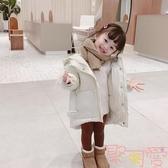 女童裝腰帶加厚韓版兒童棉衣外套棉服棉襖【聚可愛】
