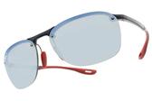 RayBan偏光太陽眼鏡RB4302M F606H0 (深藍-淺藍水銀棕鏡片) 法拉利聯名車隊款 # 金橘眼鏡
