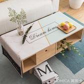 北歐風茶幾墊客廳長方形桌布布藝現代簡約家用棉麻小清新電視櫃布 美斯特精品