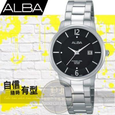 ALBA劉以豪代言超人氣簡約腕錶/黑-30mm/VJ22-X203D/AH7G43X1公司貨