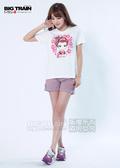 BIG TRAIN 小金魚女短褲-女-粉紫