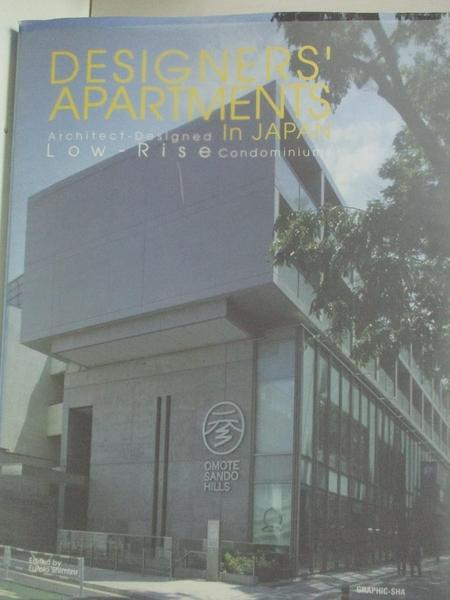 【書寶二手書T6/設計_DTW】Designers apartments : Architect-designed low-rise condominiums_Shimizu, Fumio (EDT)